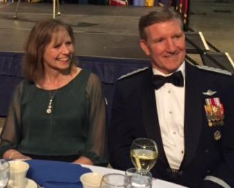 General Hawk Carlisle and wife Gillian